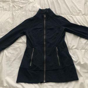 Lululemon dark blue/teal zip up